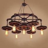 Lustre industriel de plafond de luminaire suspendu rétro en métal créatif