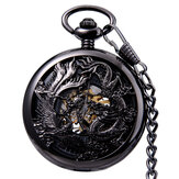 JIJIA JX024 Dragon And Phoenix Mechanical Pocket Watch