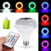 E27 12W RGBW USB Bluetooth LED-lampje Smart Music Play Lamp + 24Keys Remote Control