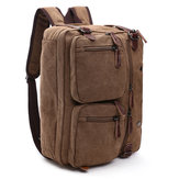 Ekphero® Men 3-convertible Handbag Vintage Crossbody Ombro Bolsa Travel Backpack
