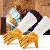 Trabajo de soldadura de soldadura Soft Cowhide Leather Plus Gloves