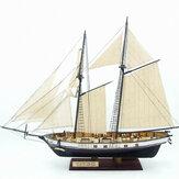 380x130x270mm DIY Modelo de Montagem Do Navio Kits Clássicos De Madeira Barcos à Vela Modelo de Escala Decoração