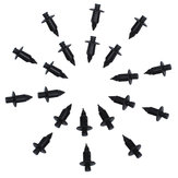 20pcs 7mm Motorcycle Fairing Rivet Trim Panel Fastener Clips Plastic For Suzuki Trim