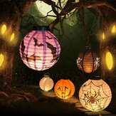 Halloween LED Paper Lantern Pumpkin Spider Bat Lights Hanging Lamp Props Decoration Party Supplies