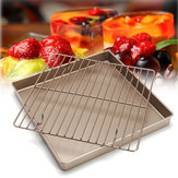 11 '' Golden Square Keuken Koelrek Brood Houder Stand Bakken Cake Pan Tools