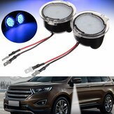 Coppia bianco LED Side View Mirror Puddle Light per Ford Edge Mondeo Focus C-Max Kuga S-Max