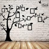 2.5m image de l'arbre de mémoire amovible encadre le photo stickers décoration mur de la salle d'oiseau noir