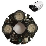 3pcs Array IR LED Spot Light 850nm Infrared Board for CCTV Bullet Camera 53mm Diameter