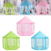 Princesa poutátil Castelo Play Tent Activity Fairy House Fun Playhouse Toy 55.1x55.1x53.1 Inch
