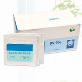 100Pcs/Set 75% Medical Disposable Swab Alcohol Pads Wipes Sterile Alcohol Home Outdoor Survival Hiking Sterilization Pad