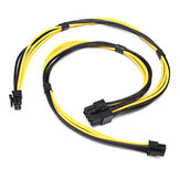 Dual Mini 6 Pin To 8 Pin Male PCI-E Power Cable For Mac Pro Video Card