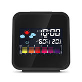 Digital Mini Wireless Color Backlight Weather Station Alarm Clock USB Hygrometer Humidity Thermometer Temperature Display Alarm Clock