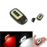 Мини-портативный USB аккумуляторная COB LED Фонарик Key Chain Torch Work Light На открытом воздухе Кемпинг Лампа