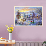 5D Diamond Painting Christmas Deer Embroidery Home Volledige Boor Borduurpakketten