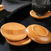 2pcs Natural Bamboo Tea Cup Holder Saucer Kungfu Tea Aaccessaries