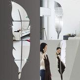 3D Spiegel Vinyl Feder Wandaufkleber Aufkleber DIY Zimmer Kunst Wandbild Removable Wall Paper Home Decor