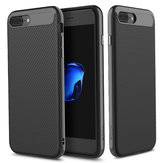 Rock Carbon Fiber Texture TPU PC Caso Para iPhone 7 Plus/8 Plus