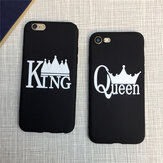 King and Queen Matte Soft TPU pokrowiec ochronny na iPhone 7/8
