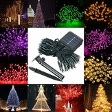 Waterdicht op zonne-energie aangedreven 12M 100LED String Fairy Light Garden Party Christmas Decor