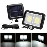 3 Mode 108 Lamp Beads COB Split IP65 Solar Charging Light Infrared Human Body Sensor Split Wall Hanging Garage Lighting Light