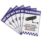 6pcs Warning CCTV Security Surveillance Camera Sign Advertência Adesivos de etiqueta 66x100mm