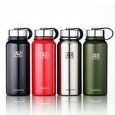 IPRee®1100mlTragbare,vakuumisolierteOutdoor-Wasserflaschemit doppelwandigem Edelstahl-Trinkbecher für Sportreisen
