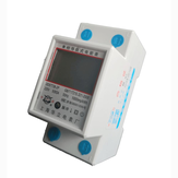 LCD Digital Display Power Consumption Meter Single Phase Energy Meter Watt Wattmeter kWh 230V AC 50Hz Electric Din Rail