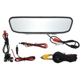 4.3inch Car LCD TFT Mirror Rear View Monitor 4LED Night View Camera de visão traseira