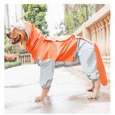 All-inclusivecãescapadechuvade quatro patas à prova d 'água ao ar livre cães capa de chuva para samoiedo / golden retriever / border terrier / labrador médio tamanho grande cães