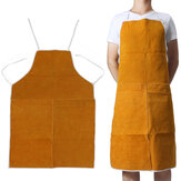 Cow Leather Aprons Welding Heat Insulation Protection Welders Blacksmith 93x64cm