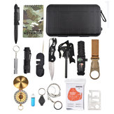 IPRee® 16 In 1 EDC Multifunktionswerkzeuge Satz Tasche Camping Survival Emergency SOS Case