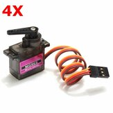 4 X MG90S Metal Gear RC Micro Servo for ZOHD Volantex Airplane RC Helicopter Car Boat Model