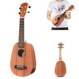 21 Polegadas Soprano Abacaxi Mogno Ukulele 4 Cordas Havaianas Mini Guitarra Crianças Presente
