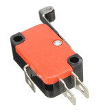 10pcs Micro 3Pins Limit Long Roller Lever Contact Toggle Switch SPDT AC125~250V 15A