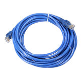Conector de cable de lan de red de internet RJ45 Cable ethernet para cat5e cat5 RJ45 5m azul cat5 65ft
