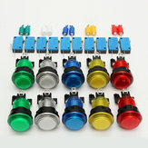10Pcs LED Illuminated Full Colors Switch buttons For Arcade DIY Parts JAMMA