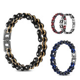 Men Stainless Steel Bracelet Bangle Motorcycle Bike Link Chain Jewelry Gifts