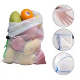 10pcs Reusable Mesh Produce Bags Vegetable Fruit Storage Shopping Grocery Bag