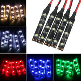 5PCS 3528 SMD Red Green Blue Yellow White 3LED Strip Light IP65 DC 12V Car Lamp