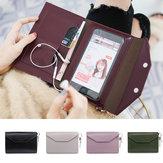 Universal Damen Portable große Kapazität Card Slot Phone Wallet für Handy