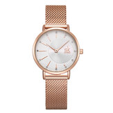 SHENGKE SK K0093 Women Crystal Full Steel Quartz Watch