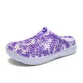 Impressão Floral Oco Out Sapatos Casuais Respirável