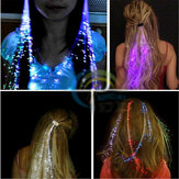 Flash LED Cabello Braid 40CM Fiesta de regalo de San Valentín decorativa Light-Up Optic Barrera de extensión de fibra óptica