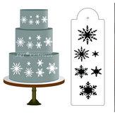 Snowflake الجانب كعكة الاستنسل الحدود مصمم مصمم كرافت الخبز أداة الخبز