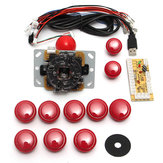 Dual Players Red Game DIY Arcade Game Consoleset Kits Vervangende onderdelen USB-encoders naar pc Dubbele joysticks en knoppen