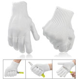 Cut Resistant Metal Anti-cutting Wire Gloves Wearable Anti-glass Scratches White