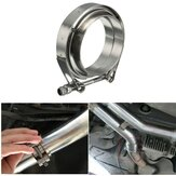 2.5inch V-Band Clamp avec brides Turbo Exhaust Down Tuyau Universel Inoxydable 63mm