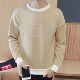 Men's Casual O-Neck Long-sleeved Pullovers