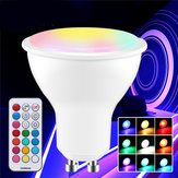 GU10 GU5.3 3W 5730 SMD RGB+White Dimmable LED Light Bulb with Remote Control AC85-265V
