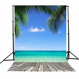 3x5FT Vinyl Summer Blue Sky Beach Coco Photography Backdrop Background Studio Prop